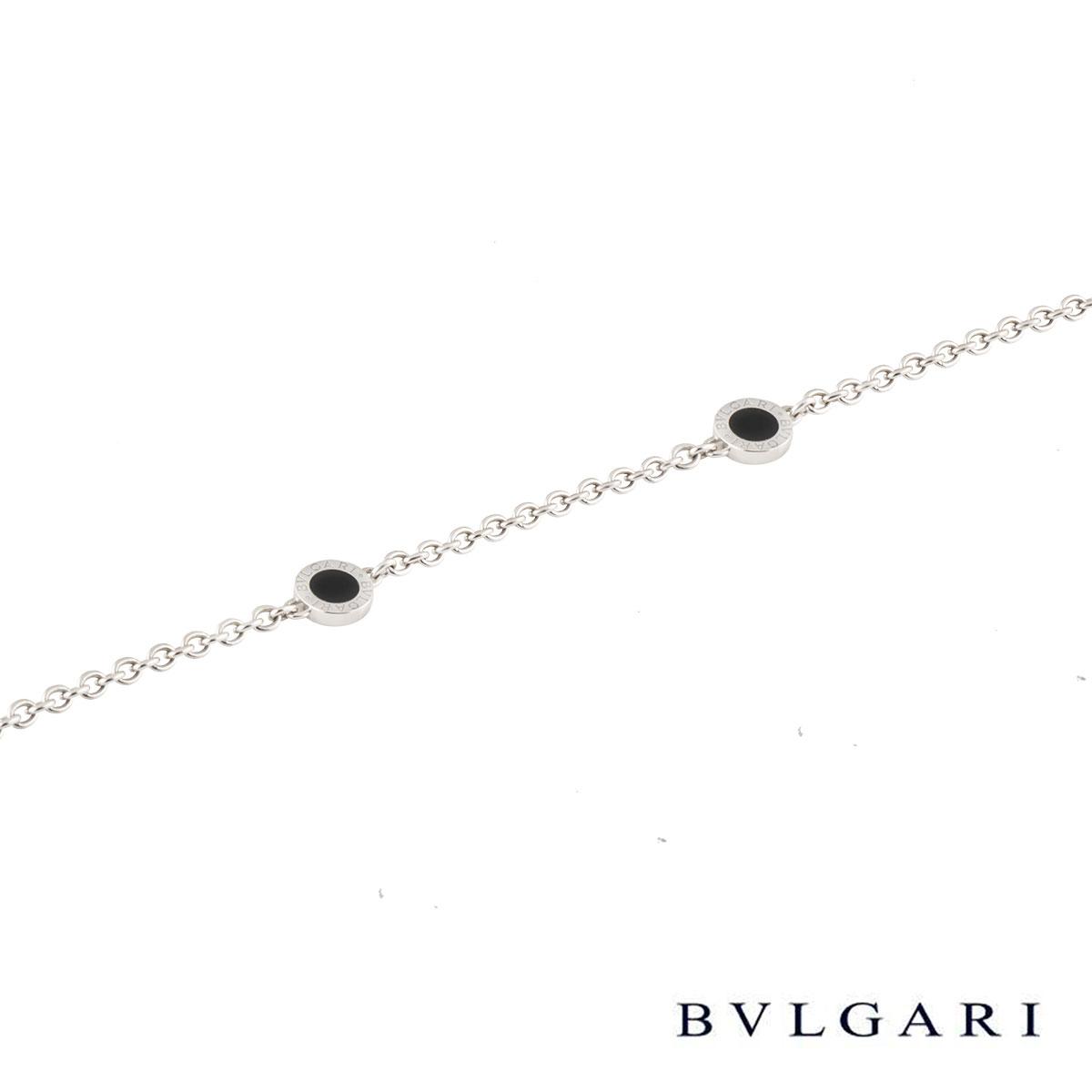 Bvlgari Bvlgari White Gold and Onyx Bracelet